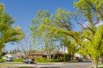 A large single level corner lot residence within Lake Encino