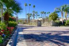 Guard gates to the community of Casa Dorado in Indian Wells give its residents security and peace of mind
