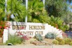 The sign at the entrance of the Desert Horizons Country Club neighborhood of Indian Wells