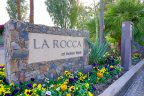 The sign at the entrance of the La Rocca neighborhood of Indian Wells