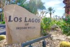 The sign at the entrance of the Los Lagos neighborhood of Indian Wells