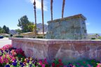 A beautiful fountain decorates the entrance to the Mountain Cove neighborhood