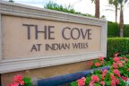 The sign at the entrance of The Cove at Indian Wells neighborhood of Indian Wells