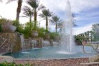 The fountain and waterfalls at the entrance of The Province neighborhood of Indian Wells are breathtaking