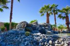 An impressive fountain at the entrance of Desert River Estates