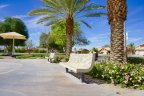 Take a seat at this park bench and relax in Shadow Hills Villas of Indio Ca