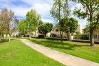 Miles of walking paths wind through the Woodbridge community in Irvine Ca