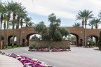The opulent entry to Andalusia Country Club in La Quinta