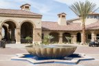 The plaza at Andalusia Country Club has a fountain as its center point