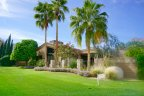 Wide greenbelts separate these La Quinta Country Club Estates Homes