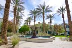 An impressive fountain at the center of the Legacy Villas community