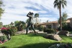 A statue within the PGA West Palmer Private community