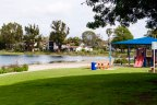 A peaceful lagoon with sand beach in Alamitos Heights