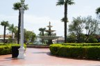 A large 3 tier fountain sits in the Naples park