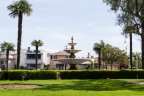 A small park sits in the center of Naples Long Beach
