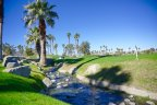 A babbling stream at Desert Falls Country Club