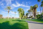 Tree lined cart paths at Palm Desert Country Club in Palm Desert CA
