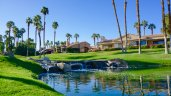 A tranquil water feature at Palm Desert Resort Country Club in Palm Desert
