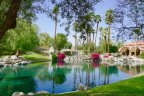A pond sits at the center of Park Palms in Palm Desert CA
