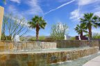 A beautiful fountain within the Alta community of Palm Springs