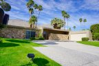 A striking mid century home at Indian Canyons in Palm Springs Ca