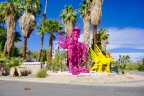 A display of art within the Palm Springs neighborhood known as the Movie Colony