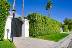 A gated and hedged private residence at the Movie Colony in Palm Springs