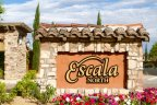 The sign for Escala North at Rancho Mirage