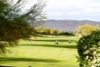 A view overlooking the golf course at Mira Vista in Rancho Mirage