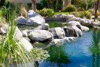 A beautiful fountain within Mission Hills Country Club