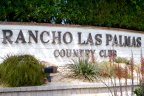 The sign for Rancho Las Palmas Country Club