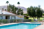 The refreshing community pool at Rancho Las Palmas in Rancho Mirage