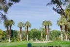 A bunker off the green at Tamarisk Country Club in Rancho Mirage