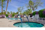 The relaxing community spa within The Estates at Rancho Mirage