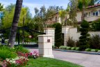 The entry to Monte Verde Estates is gated