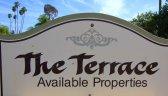 Terrace gated condominium community sign.