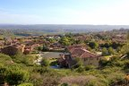 A bird eye view of the La Costa Ridge homes from the nearby hill