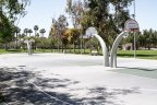 Residents enjoy playing basketball at the Heritage at Otay Ranch community park
