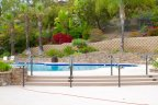 Rolling Hills Ranch Community pool resides in a beautiful setting, adding to luxurious and premium feel to the community