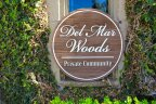 Del Mar Woods Private gated community sign