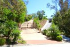 Side by side driveways of the houses on a hill in Rancho Del Mar Neighborhood