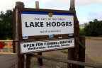 This is lake Hodges Water Department Sign