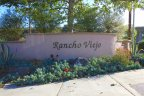 This is Rancho Viego Sign in Fallbrook California