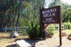 A Welcome sign board of Morro Hills Neighborhood in Fallbrook California