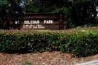 Mt. Soledad Park Sign near Windemere Community in La Jolla California