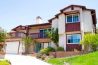 Two Story Home with high contrast color theme resides in Windsor Hills Community in La Mesa California