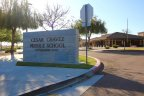 This is Cesar Chavez Middle School Sign in front of the administration Building