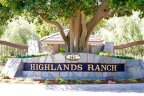 Highlands Ranch community sign in Poway California