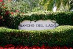 Rancho Del Lago Community Sign in San Diego California