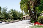 Rancho Del Lago Community entrance with professionally maintained Landscape